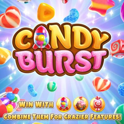 PG Slot_Candy Burst ลูกกวาดมหัศจรรย์ สัญลักษณ์และอัตราการจ่าย
